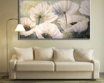 Living Room Art, Large Wall Art, Bedroom Wall Art, Flower Art Print, Wall Art for Bedroom, Flower Wall Art Wildflower Art, Living Room Decor