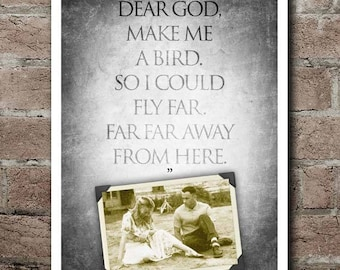 """Forrest Gump """"Make Me A Bird"""" Quote Poster"""