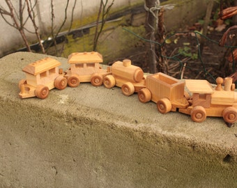Choo-Choo Wooden Train, Toy for boy, Wooden Toy train set, Birthday gift, handmade with love, wooden toy, kid's toys, eco toy