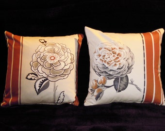 "CUSHION ""FLOWERS"" size 40X40cm"