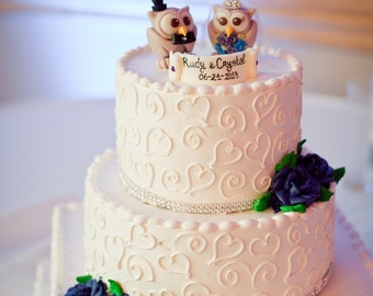 View OWL Wedding Cake Toppers By PerlillaPets On Etsy - Owl Wedding Cake