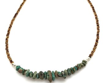 Turquoise Necklace with Thai Silver
