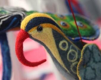 Needle Felted Exotic Bird