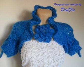 LIQUIDATION Stock SALE 30% OFF / Women Bolero Shrug Wedding Accessories Hand Knitted Jacket Romantic Feminine Crochet Cardigan Vest Capelet