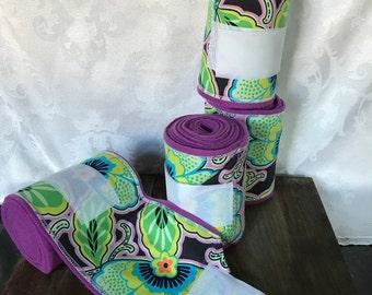Polo Wraps/Stable Wraps, Set of 2 or 4-Purple Paisley (READY TO SHIP)