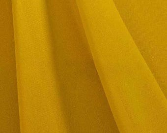 Hi Multi Chiffon Fabric - 20 Yards - Yellow Mustard (273)