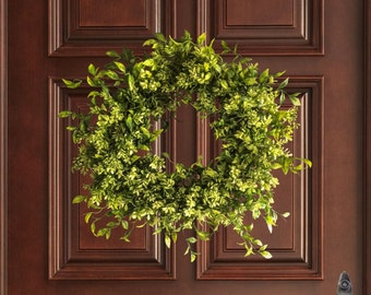 Faux Boxwood Wreath | Wreath | Winter Door Wreath | Front Door Wreaths | Boxwood Decor | Wreaths | Wall Decor | Home Decor | Office Decor
