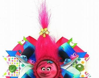 Trolls Poppy Hair Bow Headband Movie Flower
