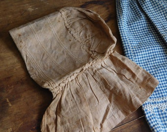 Primitive Antique Bonnet, Baby or Toddler Bonnet, Handmade