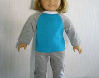 """18"""" Doll Clothes Jogging Set for American Girl Type 18"""" Dolls"""