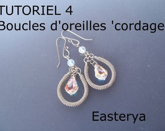 Tutorial 4 wire wrapped rope earrings