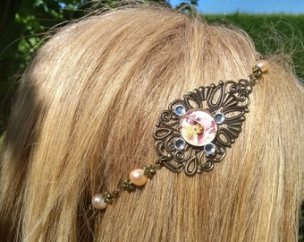 Bronze headband, romantic woman headband, head jewelry, wedding, parties, ceremonies, birthday, wedding headband