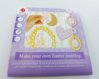 Kit to make his own Easter eggs MDF Ribbon easter decoartion diy paper heart Garland