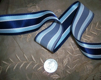 "antique satin striped ribbon 1 1/2 "", soft and drapey satin"