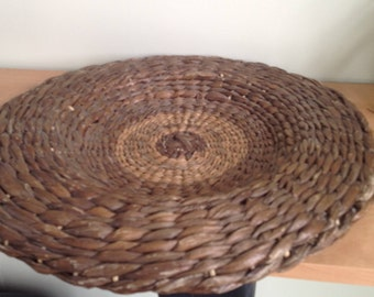 Trivet, pot holder Wicker, rattan, vintage