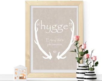 Hygge Print, Printable Hygge, Hygge Reminder, Hygge Picture, Downloadable Print, Print At Home, Housewarming Gift, Winter Print, Cosy Print