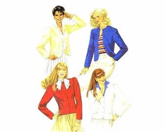 SALE 1980s Womens Princess Seam Jacket McCalls 7871 Vintage Sewing Pattern Misses Size 14 Bust 36 UNCUT