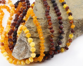 Family Amber Necklace's   Baltic amber   High quality necklace   Raw HEALING Necklace   Safety knotted   Adjustable lenght's   Gift idea