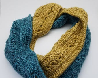 Sapphire and Gold Infinity Scarf