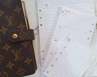 GLITCH GRAB Bags - A5, Personal, Pocket - Gold and Rose gold foil planner inserts paper | Refills for Kikki k, Filofax, Louis Vuitton agenda