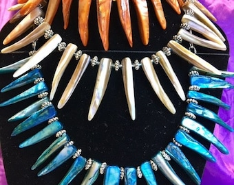 Shell Tusk Spike necklace