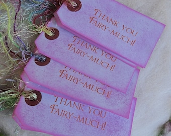 Thank You Gift Tag Small Fairytale Gift Tags, Bag Tag or Box Label, Thank You Fairy Much Birthday Wedding Party Thank You