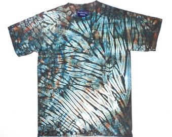 XL Shibori Men's T Zirconium Tie Dye Mens Shirt