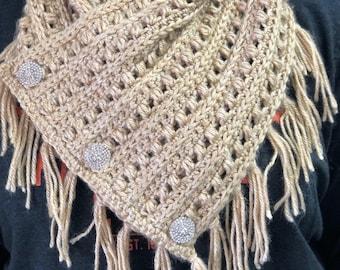 Crochet Bean Stitch Cowl