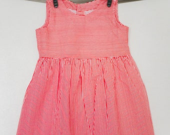 Dress with red and white stripe - 2 years