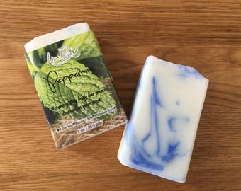 Peppermint Soap, Mint soap, Holiday soap, Handmade gift, Organic soap, Vegan soap, Natural soap