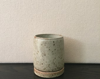 Small Planter: Buff 8-11 Clay with Matte White Glaze