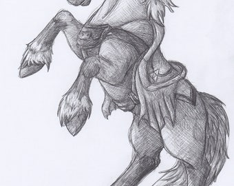 Epona the Horse of Time - Original Sketch Drawing