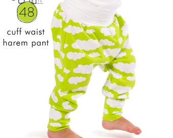 Harem pants pattern // cuff waist // photo tutorial // sizes 0-6T // #48