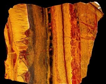 Beautiful Chatoyant Marra Mamba Tiger Eye Tigereye Slab- A233