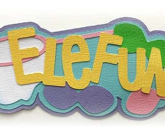 Elefun title game kids  premade paper piecing 3d die cut by my tear bears kira