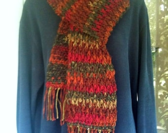 Scarf, Neckwarmer, Neck Scarf, Scarves, Unisex, Multi-color, Crochet, Men, Women