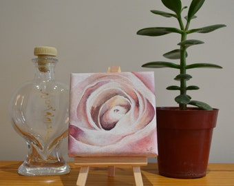 Rose Original Acrylic Painting on Canvas