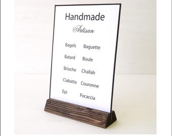 Universal Sign Stand + Large Angled Sign Holder + Rustic Wood Sign Holder + Table Card Stand + Photo Holder + SET OF 20