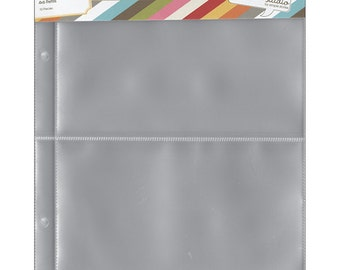 Simple Stories - Sn@p! Pocket Pages For 6inX8in Binders 10 Pack (2) 4x6 Pockets