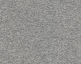 """Stof - Jersey Sweat Knit - 63"""" Wide - Solid - Gray - Fabric by the Yard ST21-300"""