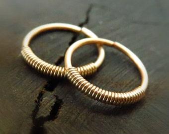 cartilage earring hoop // gold cartilage ring // small gold hoop earrings