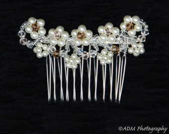 Lace inspired flower hair comb