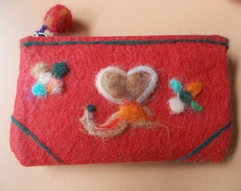 Wool felted purse