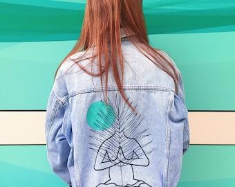 MARIUSZTRUBISZ #4 hand painted vintage denim jacket