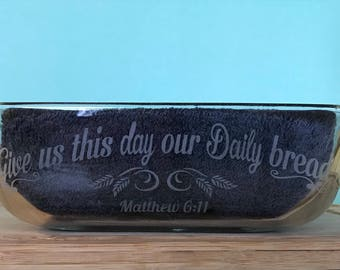 Custom Etched Bread Pan