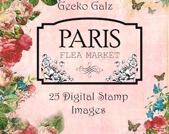 Paris Flea Market Digital Stamp Set