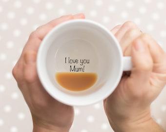 Mother's Day Mug, Gift For Mum, I Love You Mom, coffee mug, I love you, love you mom, Hidden Message, Secret Message, mug, mugs,