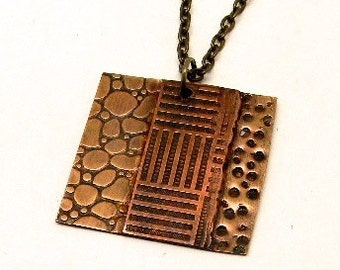 Mixed metal steampunk jewelry necklace pendant. Steampunk jewelry.