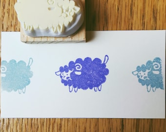 Little sheep hand carved rubber stamp.sheep rubber stamp.sheep stamp.zoo stamp