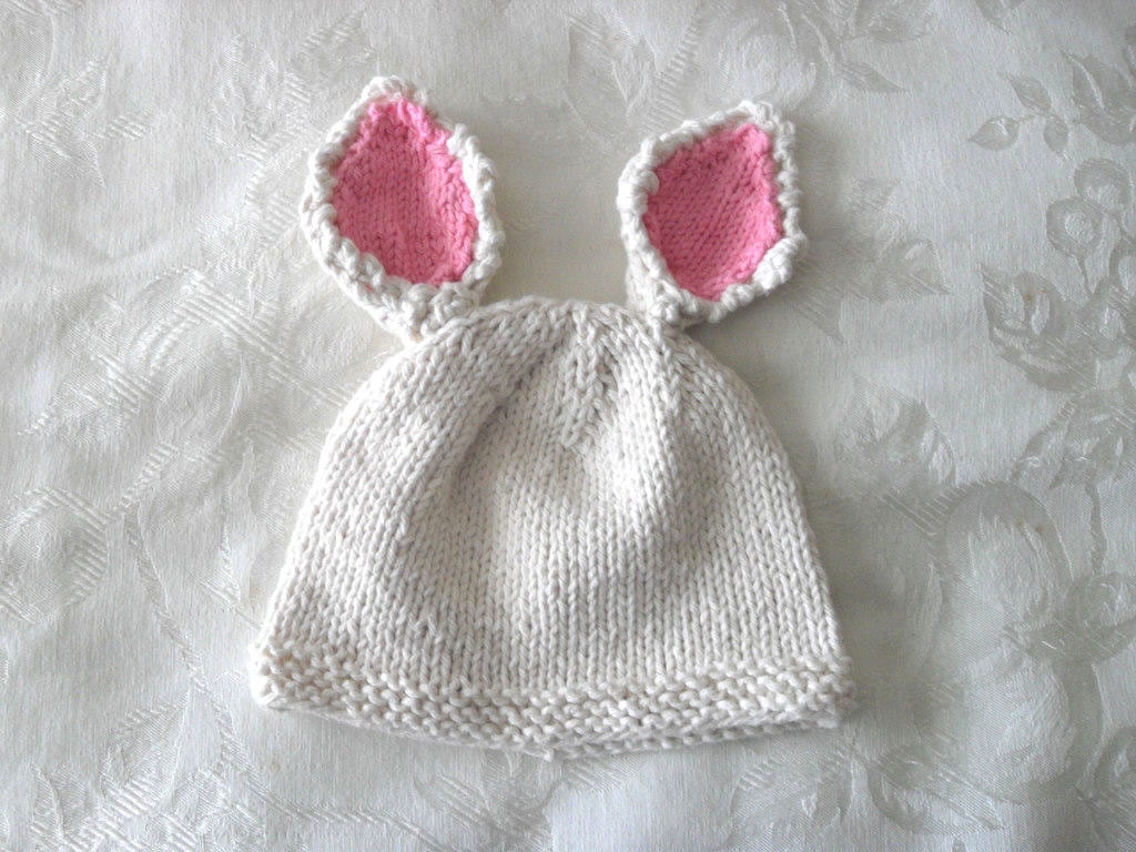 Knitted Hat Pattern Baby Hat Pattern Newborn Hat Pattern Easter ...